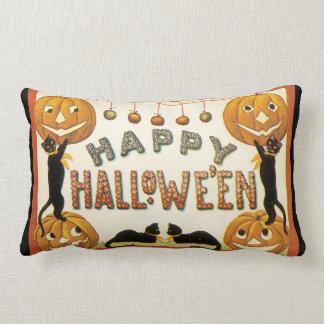 Coussin Rectangle Halloween vintage, rétros chats avec des