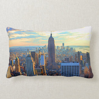 Coussin Rectangle Horizon de la fin de l'après-midi NYC comme