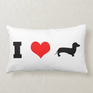 Coussin Rectangle I teckels de coeur (amour)