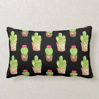 Coussin Rectangle Illustration de motif de cactus d'aquarelle