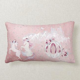 Coussin Rectangle Joli argent de rose de licorne d'aquarelle