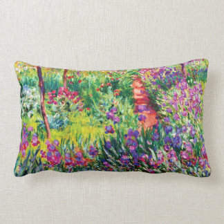 Coussin Rectangle Le jardin d'iris chez Giverny par Claude Monet