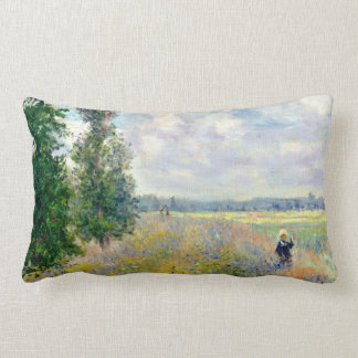 Coussin Rectangle Le pavot met en place près d'Argenteuil par Claude