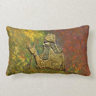 "Coussin Rectangle Le Roi assyrien Throw Lumbar Pillow 13"" X.21"