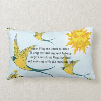 Coussin Rectangle le soleil avec les oiseaux jaunes
