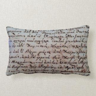 Coussin Rectangle le texte antique d'écriture de main de la Grèce de