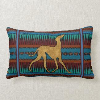 Coussin Rectangle Lévriers de l'Azawakh (bleu)