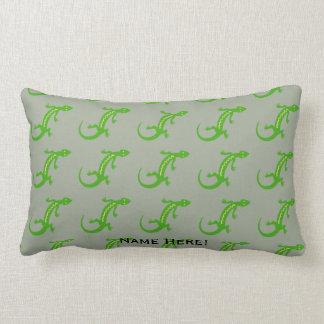 Coussin Rectangle Lézard vert