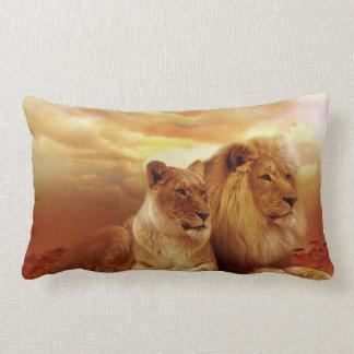 Coussin Rectangle Lions africains - safari - faune
