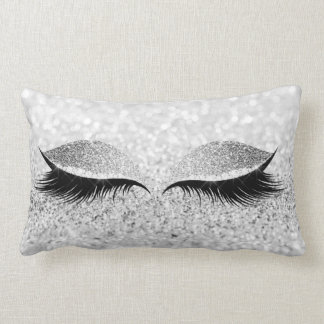 Coussin Rectangle L'oeil noir de maquillage de scintillement fouette