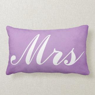 Coussin Rectangle M. et Mme Purple Parchment de souvenir de mariage