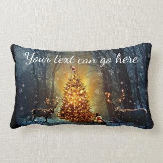 Coussin Rectangle Mâles personnalisés et Noël d'arbres