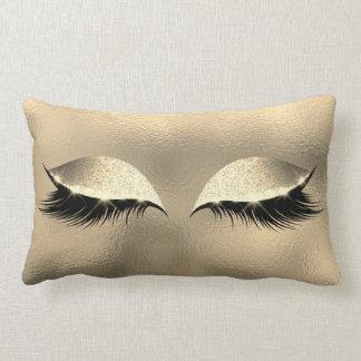 Coussin Rectangle Maquillage en verre de scintillement de sommeil de