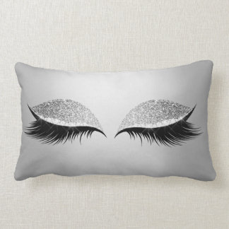 Coussin Rectangle Mèches fascinantes de maquillage d'yeux au beurre
