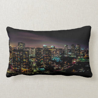 Coussin Rectangle Mississauga la nuit