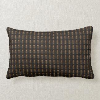 Coussin Rectangle Modèle d'or du motif do-it-yourself de Brown de