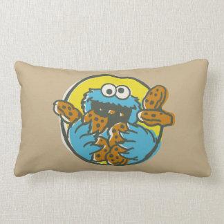 Coussin Rectangle Monstre de biscuit rétro