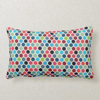 Coussin Rectangle Motif géométrique multicolore