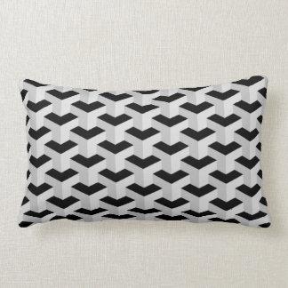 Coussin Rectangle Motif géométrique noir et gris