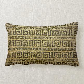 Coussin Rectangle Motif grec de méandre d'or vintage