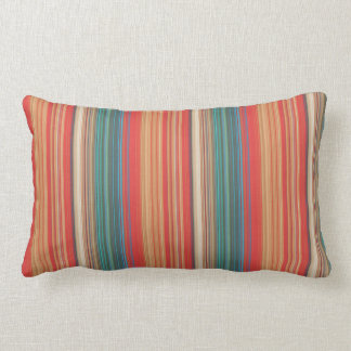 Coussin Rectangle Motif rayé multicolore