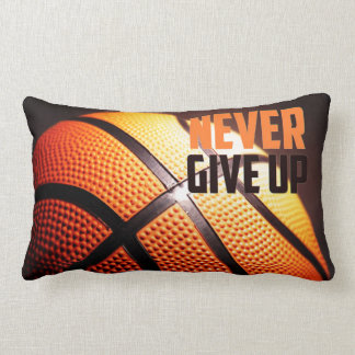 Coussin Rectangle Motivation de basket-ball - n'abandonnez jamais