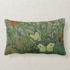 Coussin Rectangle Papillons et pavots par Vincent van Gogh