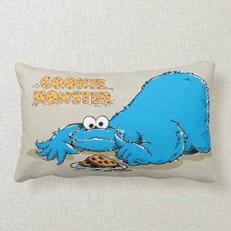 Coussin Rectangle Plat vintage de monstre de biscuit des biscuits