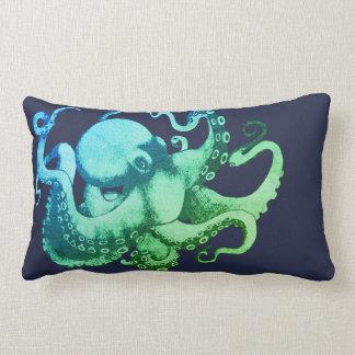 Coussin Rectangle Poulpe moderne de créature de mer de tonalités