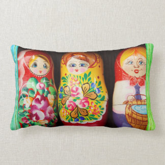Coussin Rectangle Poupées colorées de Matryoshka