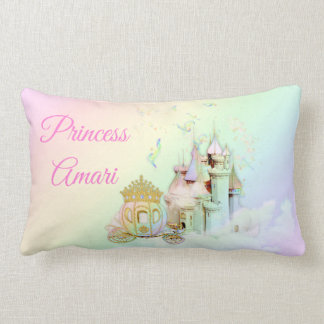 Coussin Rectangle Princesse magique Castle Carriage d'arc-en-ciel