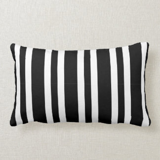 Coussin Rectangle Rayure blanche noire