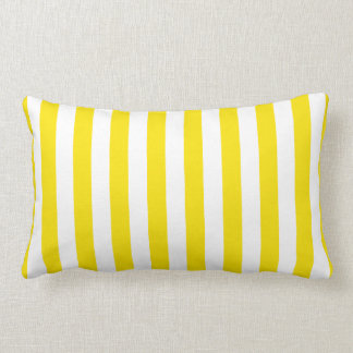 Coussin Rectangle Rayures jaunes verticales