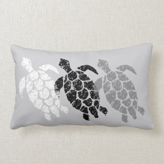Coussin Rectangle Réversible hawaïen de tortue de mer de Honu