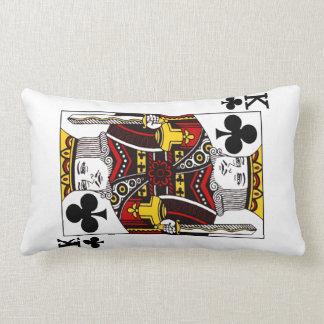 Coussin Rectangle Roi de trèfle la carte de jeu