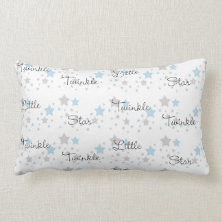 Coussin Rectangle Scintillement peu de comptine grise de gris bleu