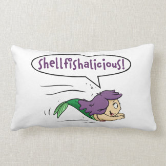 "Coussin Rectangle ""Shellfishalicious ! ""Carreau lombaire"