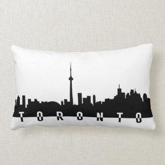 Coussin Rectangle silhoue de noir de symbole de ville du Canada de
