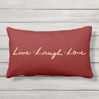 Coussin Rectangle Simple vivent la main d'or d'amour de rire marquée