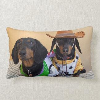 Coussin Rectangle Teckel drôle - cowboy de chien
