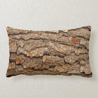 Coussin Rectangle Texture d'écorce de pin