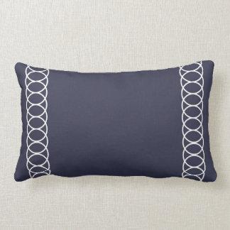 Coussin Rectangle Treillis bleu et blanc de cercle