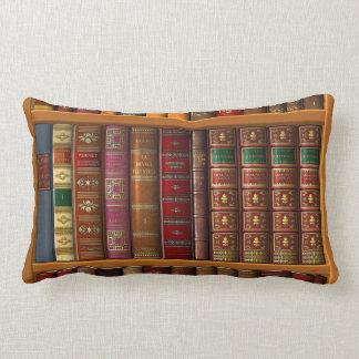 Coussin Rectangle Trompe - l ' oeil d'une bibliothèque des livres