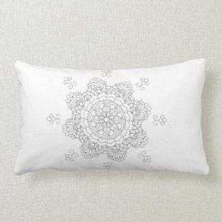 Coussin Rectangle Vect desing d'Indien de conception de fleur de