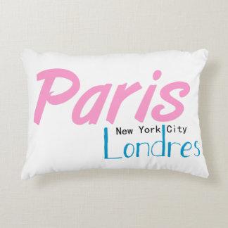 Coussin Rectangulaire 40cmx30cm Paris-NYC-Londres