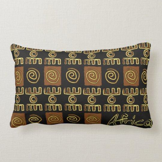Coussin rectangulaire motif africain