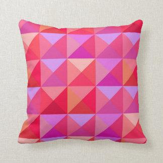 Coussin Rétro rose géométrique