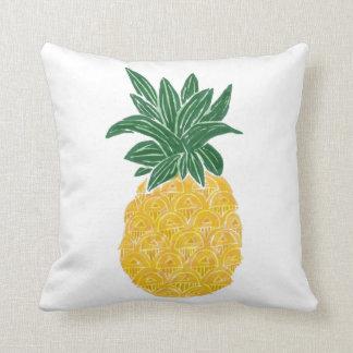 Coussin réversible d'ananas d'aquarelle