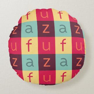 Coussin rond de coton de logo d'ART d'Uffizi