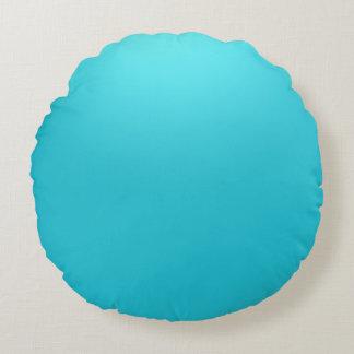 Coussin rond de jet de polyester de bleu marine